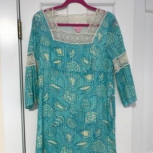 Lilly Pulitzer 3/4 Sleeve Lace Dress